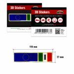 3D-Stickers-Targhetta-Bandiera-Italia-Europa-137-B