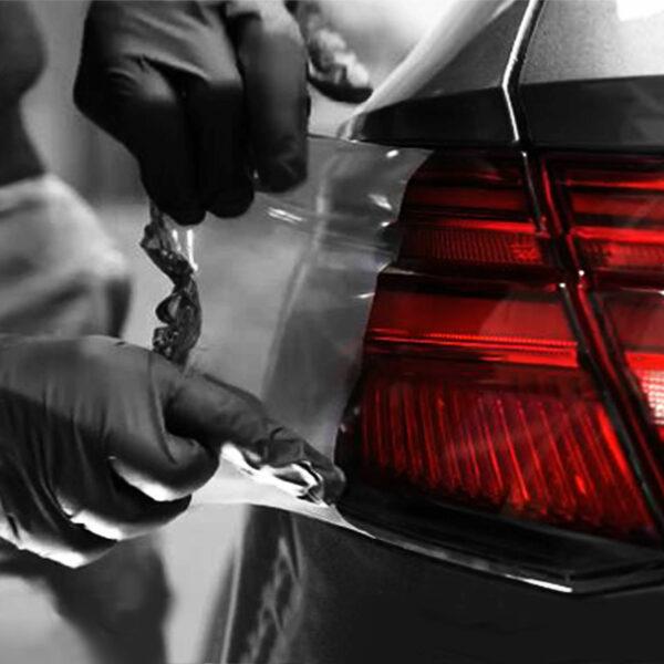 wrapper spray vernice rimovibile oscurante fari auto, rimozione