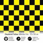 pellicola-adesiva-scacchi-giallo-35×50