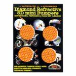 Adesivi-Rifrengenti-3D-Cerchi-Arancione-Auto-Moto-A