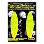 Adesivi-Rifrengenti-3D-Ovali-Giallo-Auto-Moto-A