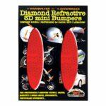 Adesivi-Rifrengenti-3D-Ovali-Rosso-Auto-Moto-A