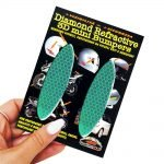 Adesivi-Rifrengenti-3D-Ovali-Verde-Auto-Moto-B