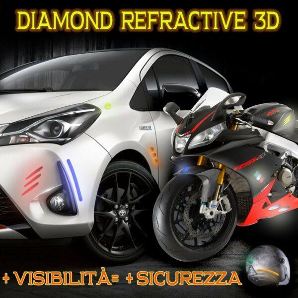 Sport Tankpad 3D-Aufkleber f/ür Motorrad 4R Quattroerre.it Carbon 1870
