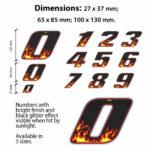 Numeri-Moto-Fiamme-Dimensioni