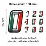Numeri-Slim-Flag-Tricolore-Dimensioni