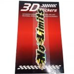 Sticker-3D-No-Limits-Nero-B