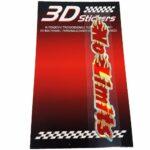 Sticker-3D-No-Limits-Rosso-B