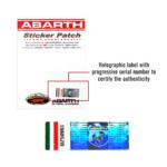 abarth-toppa-patch-adesiva-confezione-etichetta-olografica