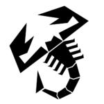 adesivo-abarth-scorpione-nero-240-mm