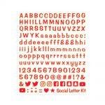 letterkit-social-lettere-simboli-adesivi-rosso-fluo