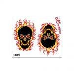 Stickers-Medi-Teschio-Fiammeggante-8109