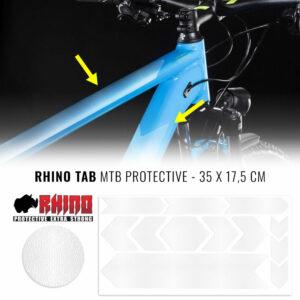 Tabella adesivi protettivi Rhino bicicletta, trasparente