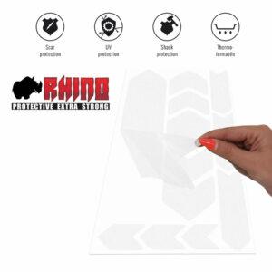 Tabella adesivi protettivi Rhino bicicletta, trasparente, proprietà